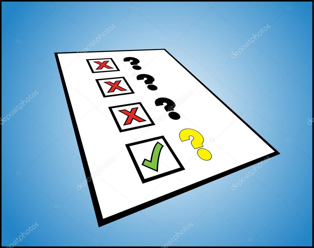 questions wrong tick mark stock vector copy harishmarnad  illustration concept for right or correct or great question or to do list a 3d perspective view of 3 questions wrong tick mark against it and right