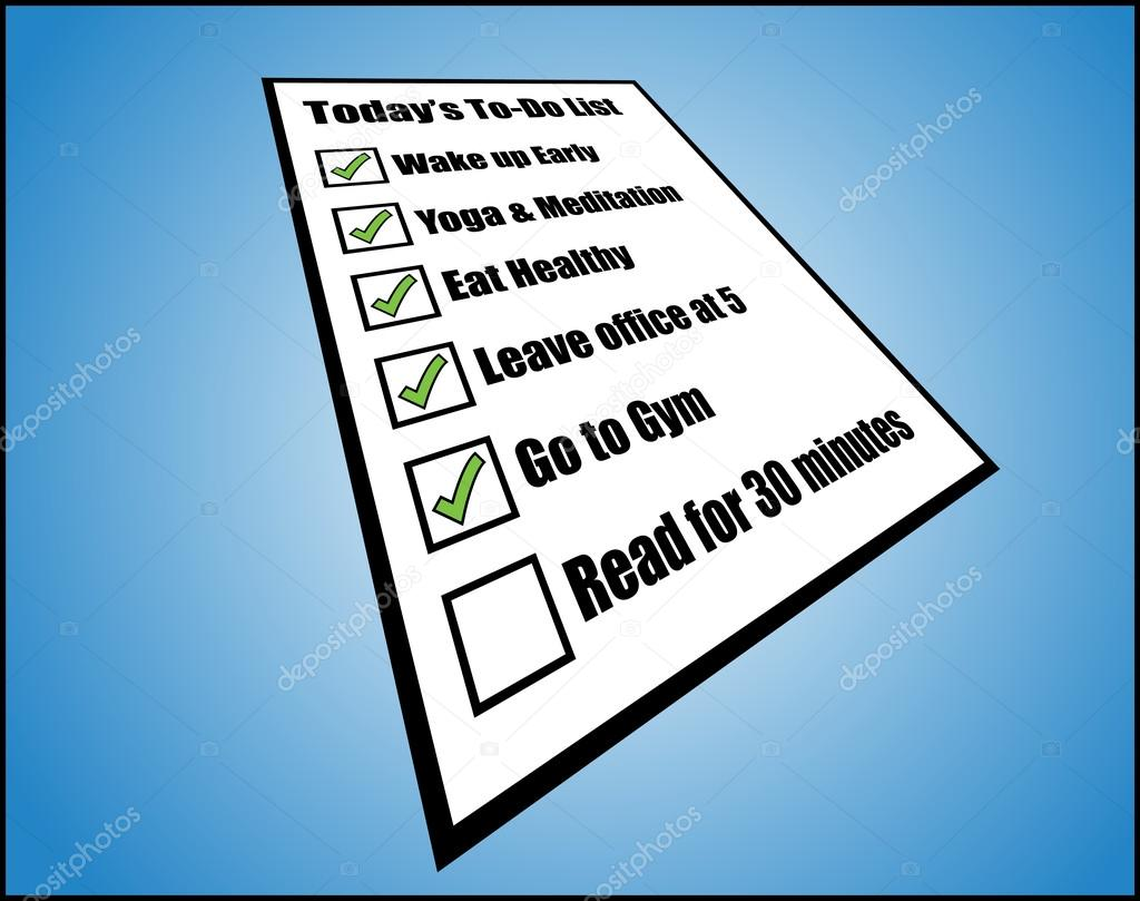 task list or long term goals stock vector copy harishmarnad  concept illustration of life s to do or task list or long term goals perspective view of while pad different ticked un ticked tick boxes which are