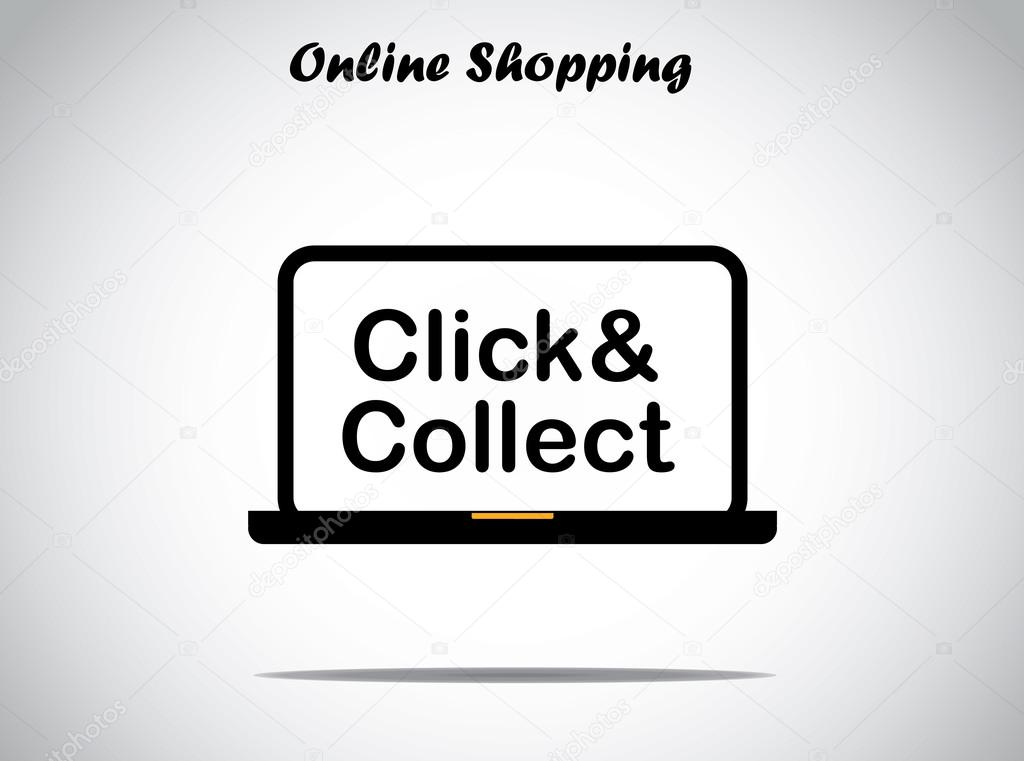 Text Designs Online Online Shopping Concept Design