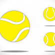 Yellow colorful Tennis balls symbol icon set concept design. three different realistic yellow colored balls collection set with bright white background - art vector illustration — Stock Photo
