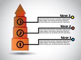 úspěch kroky obchodní návrh infografiky úspěšný růst — Stock fotografie