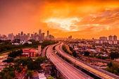 Kuala Lumpur skyline from PPR Jelatek — Stock Photo
