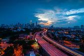 Bluehour from Jelatek with KLLC view — Stockfoto