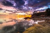 Sunset tips of borneo — Stock Photo