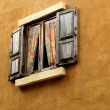 Old wood windows. — Stock Photo