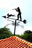 Shooting rabbits. Weather Vane — Stock Photo