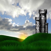 Fort in the meadow — Stock Photo