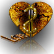 Stock Photo: Corrupt heart