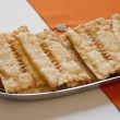 Close-up view of italian Chiacchiere — Stock Photo