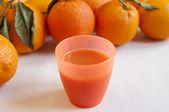 Close-up view of organic italian orange juice — Stock Photo