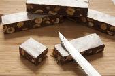 Turrón de cacao tradicional italiana — Foto de Stock
