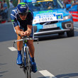 Stock Photo: Rui Costa, Prologue of Tour de France 2012