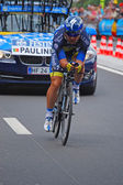 Sergio Paulinho, Prologue of the Tour de France 2012 — Zdjęcie stockowe