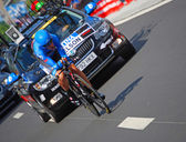 Tom Danielson, prologue of the Tour de France 2012 — Стоковое фото