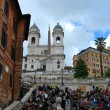 Foto Stock: Spanish steps