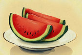 Food. Watermelon on a plate — Stock Photo