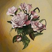 Rose, watercolor — Stock Photo