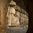 Gwalior Jain Carvings, India — Stock Photo