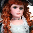 Redhead doll portrait — Stock Photo