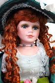 Redhead doll portrait — Stock Photo