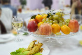 Fruit plate on a table — Stock Photo