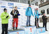 Winners of VI international childrens winter games from UFA — Zdjęcie stockowe