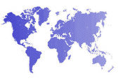World map - Business vector — Cтоковый вектор