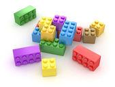 Bloco colorido — Fotografia Stock