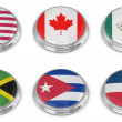 Stock Photo: Nation flag icon set