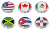 Nation flag icon-set — Stockfoto