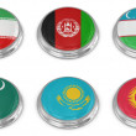 Nation flag icon set — Stock Photo
