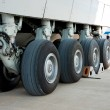 Stock Photo: Airplane undercarriage