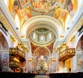 Interior of Cathedral Saint Nicholas in Ljubljana - Slovenia — Stock Photo
