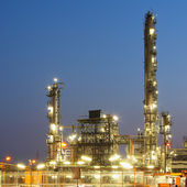Oil and gas industry - refinery - factory - petrochemical plant — Stock Photo