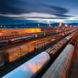 Stock Photo: Freight Station with trains