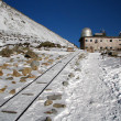 Observatory in High Tatras Skalnate pleso - Lomnicky stit - High — Stock Photo