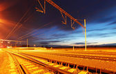 Railroad at dusk — Stock Photo