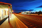Railroad at dusk — Stockfoto