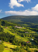 Beautiful landscape of a mountain relief of Krkonose — Stock Photo