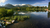 Strbske Pleso is nice lake in High Tatra - Slovakia — Stock Photo
