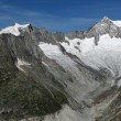 Aletsch glacier - Upper - Stock Photo