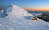 Sunset in mountains Low Tatras - Slovakia Name of peak is Chopok — Stock Photo