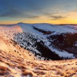 Winter mountains panorama landscape at sunset - Slovakia - Fatra — Stock Photo #18638933