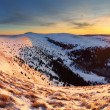Winter mountains panorama landscape at sunset - Slovakia - Fatra — Stock Photo