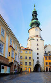 Bratislava - Michael Tower (Michalska Brana), Slovakia. Historic — Stock Photo