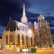 St. Stephan cathedral in Vienna at twilight, Austria — Stock Photo #18665965