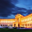 Vienna Hofburg Imperial Palace at night, - Austria — Stock Photo #18665989