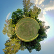 Little planet - Globe at summer time - 360 degrees panorama — Stock Photo #18666271