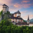 Stock Photo: Beautiful Slovakicastle at sunset - Oravsky hrad