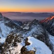 Stock Photo: Sunrise in High Tatras - SlovakiPhoto from mountain - Rysy